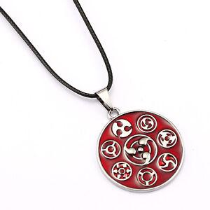 Naruto Uchiha Sasuke Ootutuki Kaguya Sharingan Pendant Necklace Alloy Jewelry