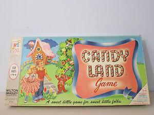 Milton Bradley Candy Land Board Game Vintage 1955 1962