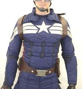 Captain America adjustable back shield HARNESS Buckle + BELT ...