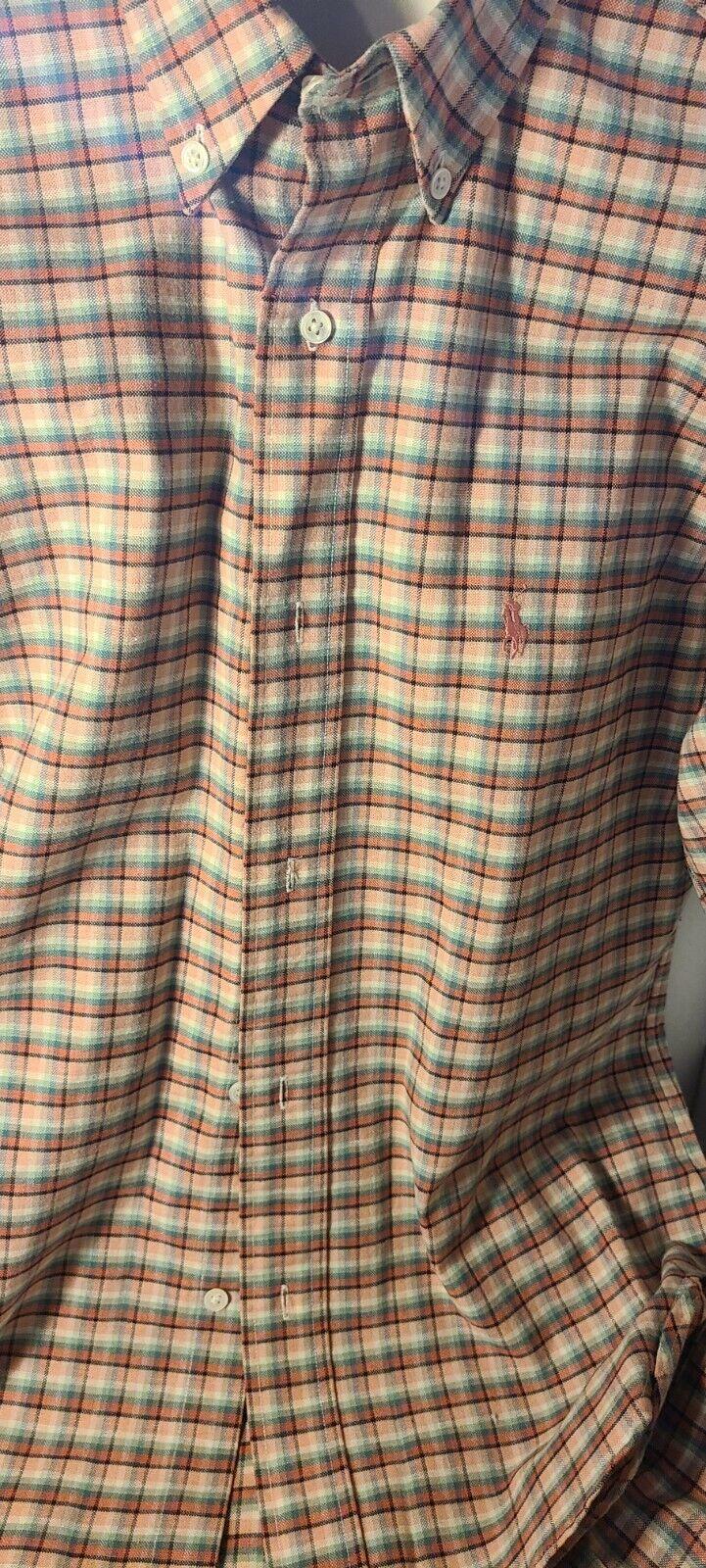 Vintage 1980s Ralph Lauren Plaid Button Down.  - image 1