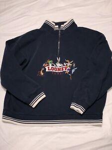 vintage-1996-looney-tunes-1-4-zip-sweater