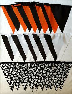 3-POUR-2-offre-10-ft-environ-3-05-m-3-M-Halloween-Noir-Orange-Crane-Crossbones-Pirate-Bunting