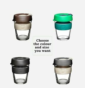 KeepCup-Brew-Glass-Coffee-Cup-Silicone-Band-Reusable-Eco-Tea-Mug-8oz12oz-Genuine