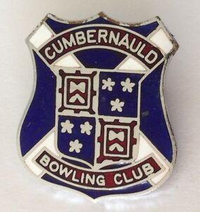 Cumbernauld-Bowling-Club-Badge-Pin-Rare-Vintage-UK-M17
