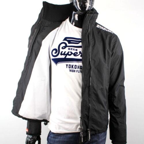 Superdry Homme Technical Windcheater Veste Filet Noir//Blanc x2