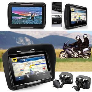 GPS-Bluetooth-Navigationsgeraet-8GB-Reise-Motorrad-Bike-Lkw-Bus-Auto-4-3-Zoll-TFT