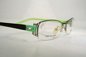 c834bd95f7 Large TIMES Lime Green Black Nickel Free Semi Rimless Eyeglasses ...