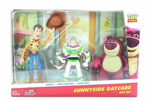 """TOY STORY 3 pack WOODY BUZZ LOTSO 4"""" action figures Sunnyside Daycare - NEW!"""