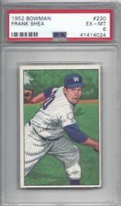 1952-Bowman-baseball-card-230-Frank-Shea-Washington-Senators-graded-PSA-6