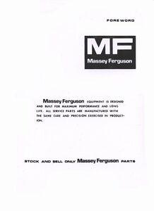 Massey-Ferguson-MF52A-MF-52-A-Backhoe-Parts-Manual