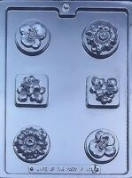 Assorted Flower Bars Chocolate Candy Mold F101