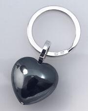 Martin Hardt, Sterling Silber Schlüsselanhänger mit Herz (Hämatit)
