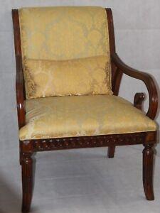British Colonial Armchair In Scalamandre Reggio Ebay