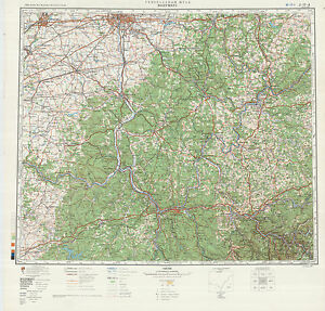 Russian Soviet Military Topographic Maps State WEST VIRGINIA USA - Military topographic maps