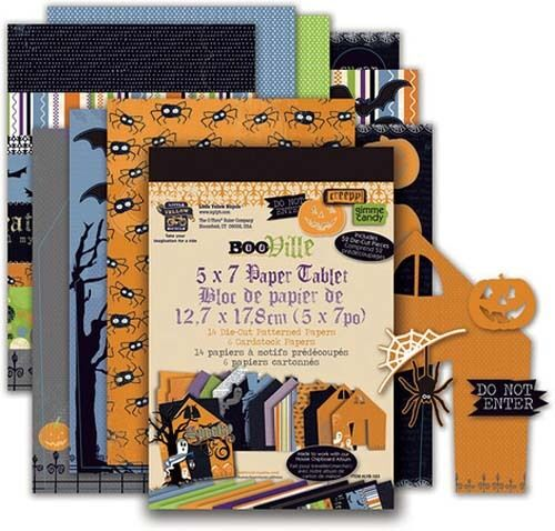 "Little Yellow Bicycle BOOVILLE 5""x7"" Paper Tablet Scrapbooking Cardmaking"