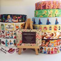 1 Metre Disney / Pixar Princess Grosgrain ribbon 22/25mm Party Cake/ Hair Bows