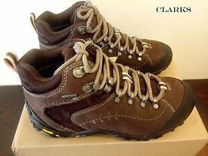 fc4706454db Details about CLARKS Ignify Mid GTX Dark Brown Leather Women's HIKING Boots  UK 3.5 5.5 RRP£130