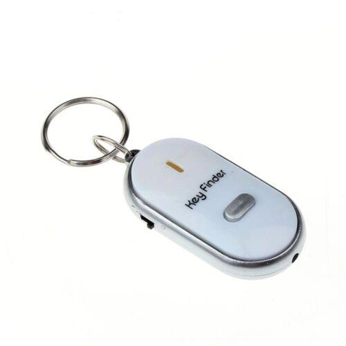 Sound Control Lost Key Finder Locator Keychain LED Light Mini Portable Whistle