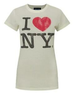 Junk-Food-I-Love-New-York-White-Women-039-s-T-Shirt