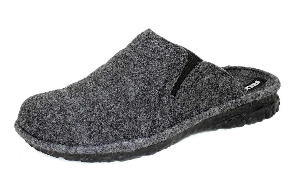 Romika Hausschuhe MIKADO Pantoffeln Woll-Filz grau H 14049 NEU