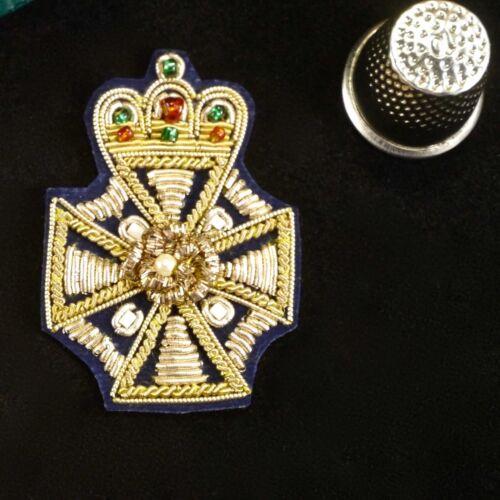 Indian Asian Goldwork Zardozi Badge Crown Applique Patch Decoration Trim MA752