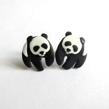 WWF World Wide Fund for Nature Panda Bear Nero e Bianco animali piccoli orecchini