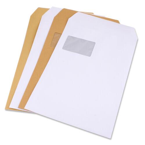 Versandtaschen Briefumschläge Umschlag C4 A4 250 Stück mit und ohne Fenster