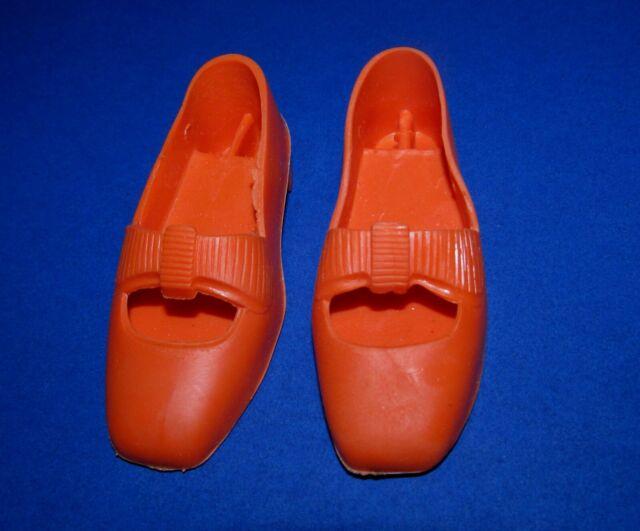 Vintage Ideal Crissy Grohair Orange Bow Shoes!