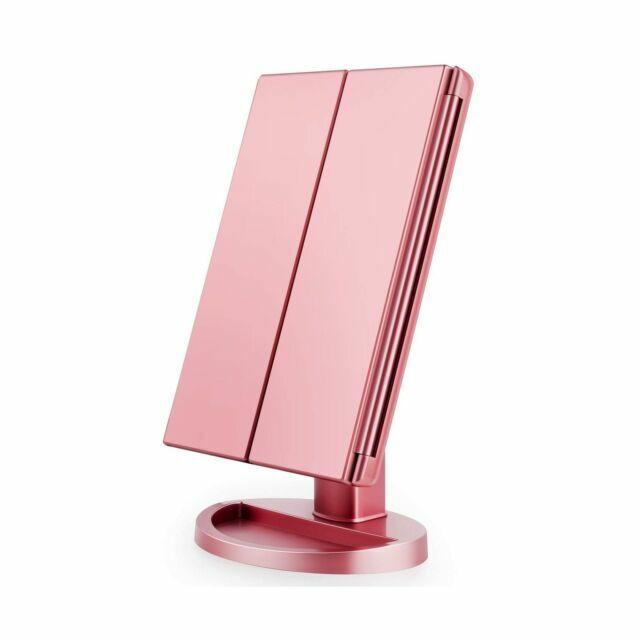 Vanity Led Makeup Mirror Rose Gold, Best Makeup Mirror With Led Lights