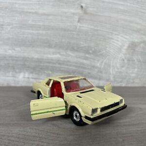 CORGI GRAN BRETAGNA ANNI 1980 HONDA PRELUDE Die Cast Auto Giocattolo bianco rosso vintage