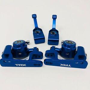Traxxas-Slash-Bleu-Aluminium-broche-essieu-porteur-Bague-Moyeu-platine-4x4-f-amp-r