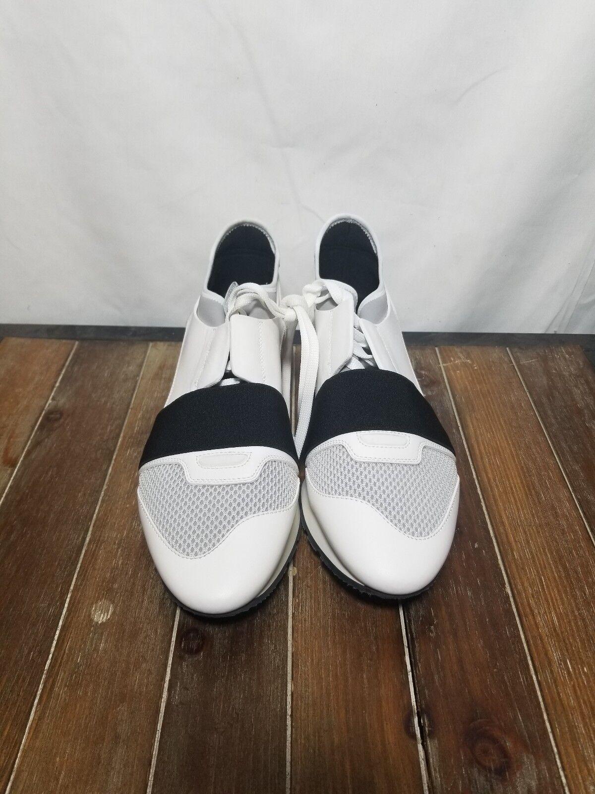 Balenciaga femmes US 9 blanc blanc blanc Race Runner Leather baskets  695  EUR 40 242d9e