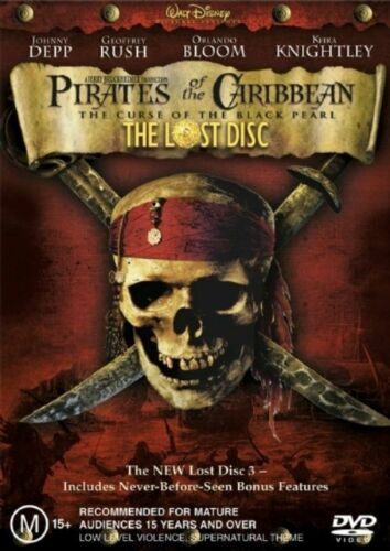 1 of 1 - Pirates Of The Caribbean: The Curse Of The Black Pearl 3 x DVD Box Set New Rare