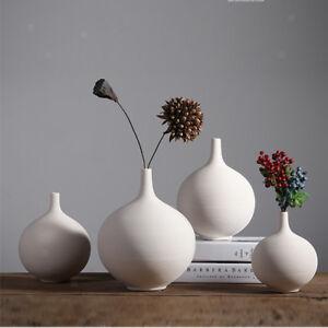 eBay & Details about White Ceramic Vase Home Decor Ikebana Flower Vase Wedding Ornament Solid White
