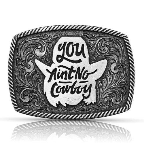 Attitude by Montana Silversmiths Dale Brisby Ain/'t No Cowboy Belt Buckle A806DBS