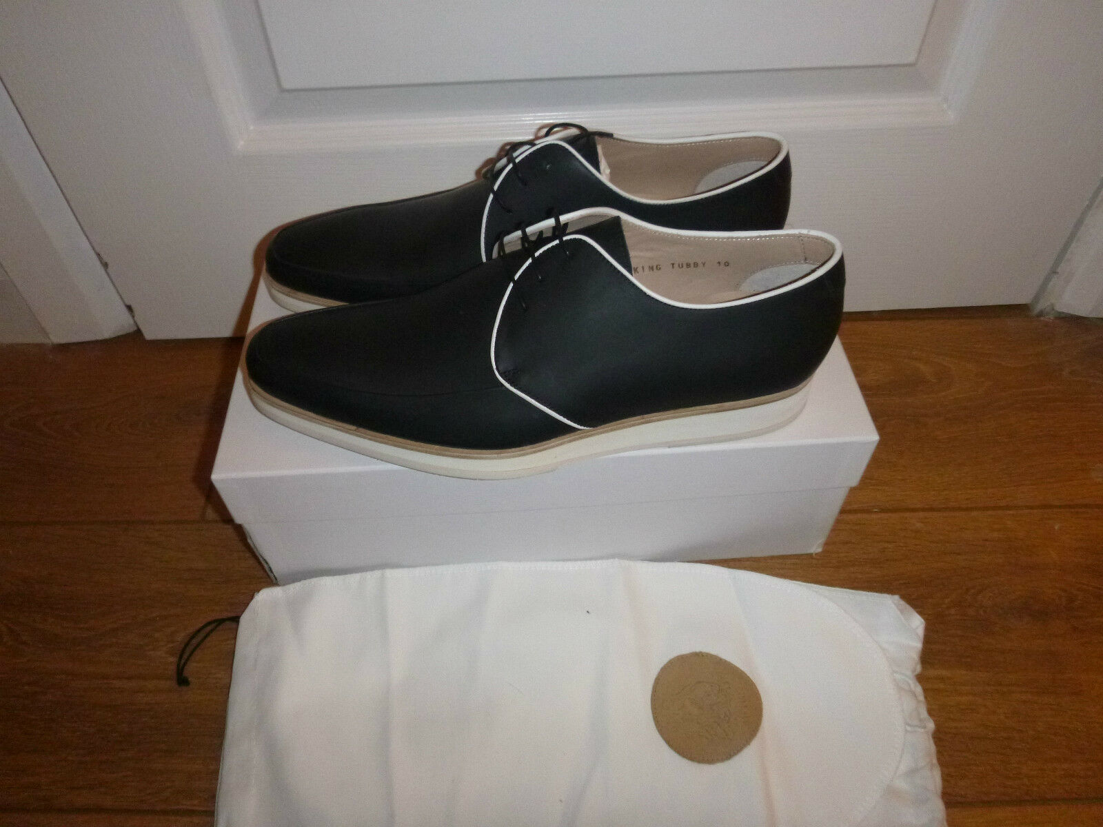 Brand New in Box M. Hare King Tubby Derby Chaussures Made in  UK8