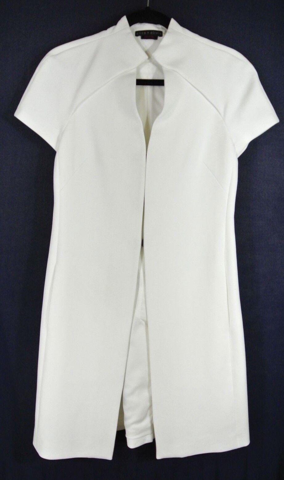 NEW Alice + Olivia Melinda Ingreened Topper in White - Size 4