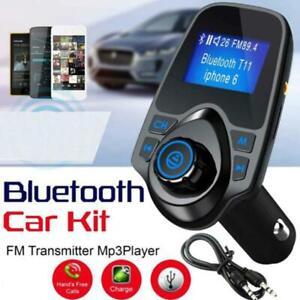 Car-Bluetooth-Wireless-FM-Transmitter-MP3-Player-Radio-Adapter-Kit-USB-Charger