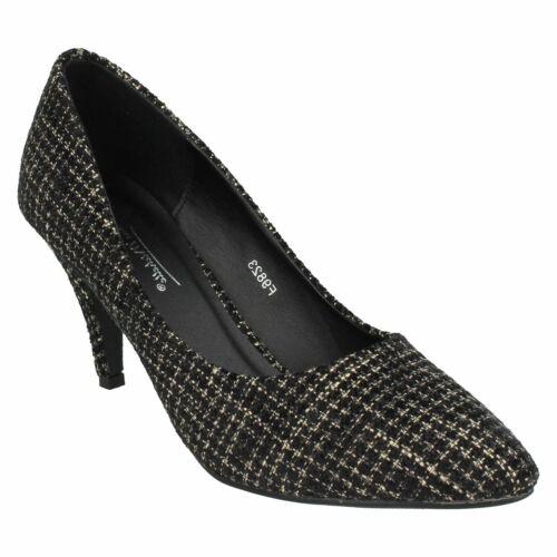 Femmes Anne Michelle F9823 Slip On Talon Aiguille Formel Bureau Cour Chaussures Taille