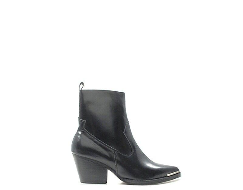 Schuhe Jeffrey Campbell Frau Knöchelstiefletten Schwarz Leder Natürliche