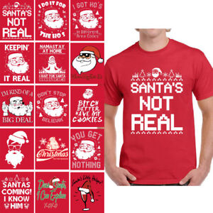 6013351267c Santa Christmas Shirts for Men Santa Ho s Ugly Christmas Tshirt Dear ...