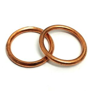 10 x 24MM COPPER CRUSH COMPRESSION OIL SEAL SEALING SUMP WASHERS KW234