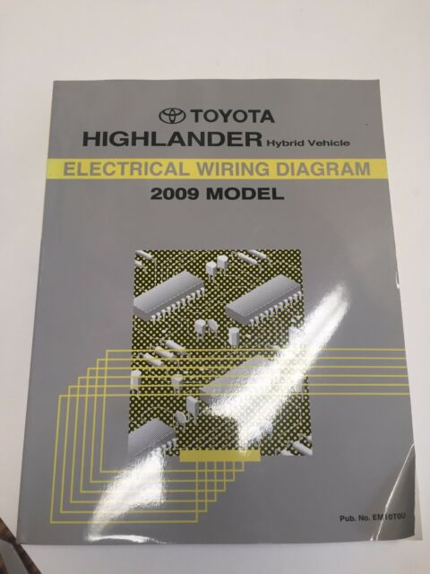 2009 Toyota Highlander Hybrid Vehicle Oem Factory Electrical Wiring Diagram Book