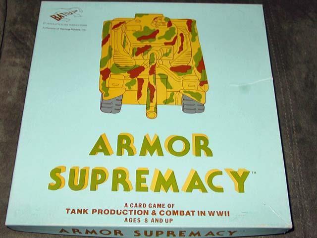 Battleline Juegos Yaquinto-Armadura supremacía-Segunda Guerra Mundial juego de combate de tanque de producción &