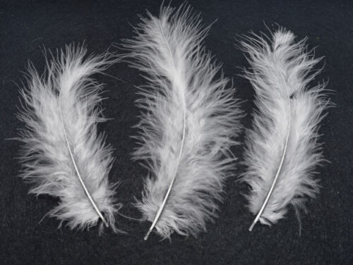 100 FLUFFY MARABOU FEATHERS 10cm to 15cm  ARTS /& CRAFTS CARD MAKING 10 COLOURS