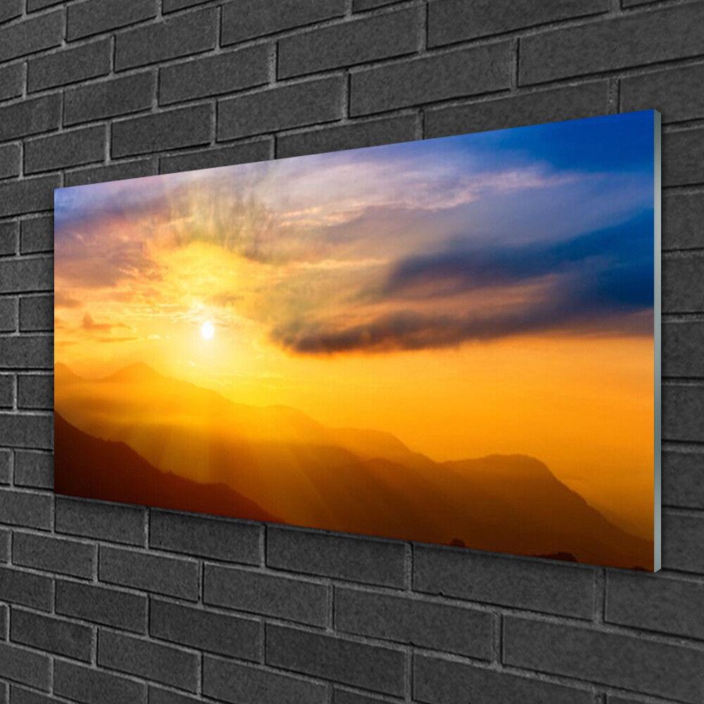 Image sur verre Tableau Impression 100x50 Paysage Montagne