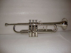 BUY IT NOW! NEW SILVER CHROME Bb TRUMPET WITH FREE HARD CASE+MOUTHPIECE