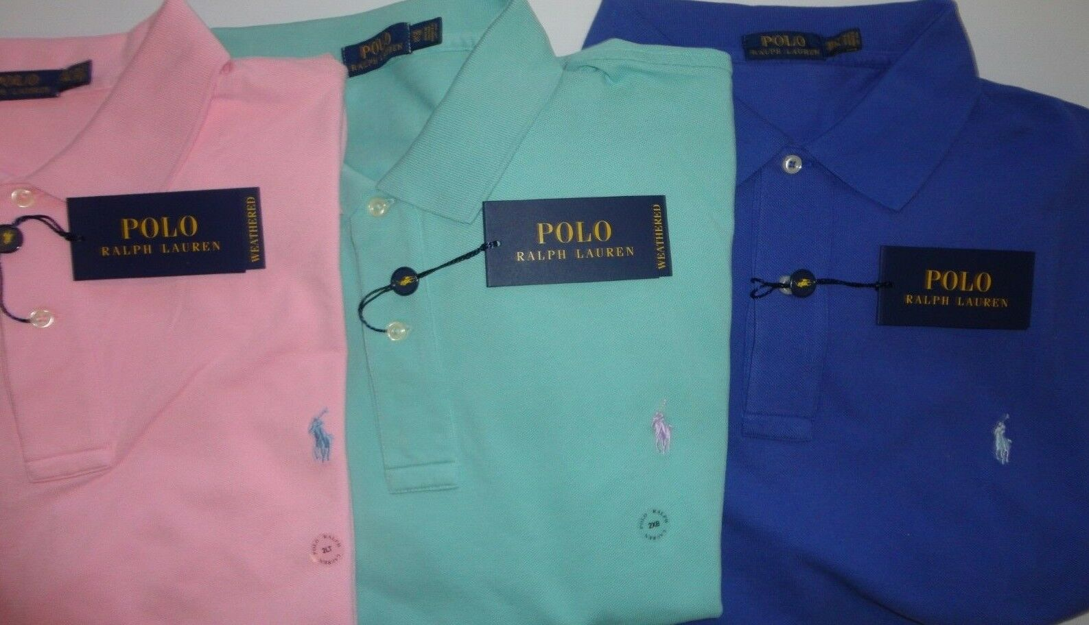 NWT Polo Ralph Lauren PINK, GREEN, blueE WEATHERED Mesh SS Polo Shirt Big&Tall