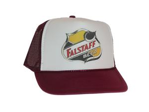 647042ea Image is loading Falstaff-beer-hat-Trucker-hat-mesh-hat-adjustable-