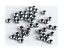 100x 3mm Round 1mm Hole Smooth Crimp Beads Earrings Bracelet Necklace Finding